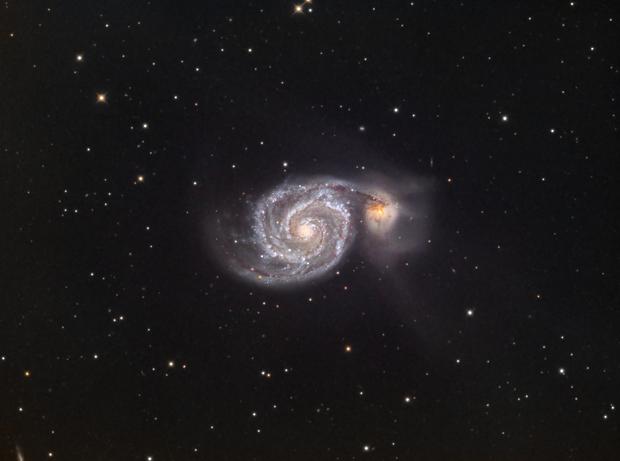 Whirlpool Galaxy (M51) in LRGB,                                Jose Carballada