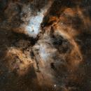 Eta Carinae Nebula  (NGC 3372)  L-Enhance + Ha,                                Andrés González