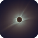 Total Solar Eclipse in Natural Color, Wide Field, August 21, 2017,                                Roger Clark