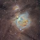 La nebulosa di Orione in Hubble Palette,                                gagba