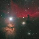 Horsehead & Flame nebulae LRGB,                                Thilo Frey
