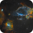 NGC7635, NGC 7538 & Sh2-157 - The Bubble, Northern Lagoon & Lobster Claw Nebula,                                Yannick Akar