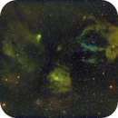 The Bubble nebula and surrounding in Hubble-palette,                                Janos Barabas