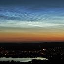 C/2020 F3 (NEOWISE) behind Noctilucent cloud,                                MrPhoton
