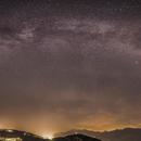 Milky Way behind clouds,                                Vincent Savioz