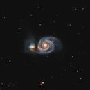 M51 Whirlpool Galaxy 20210421 36240s LHaGB 01.5.3,                                Allan Alaoui