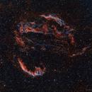 Cygnus Loop in Bicolor,                                DeepSkyView