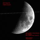 ISS pass on the Moon,                                Kiyoshi Imai