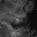 IC1848 (SH2-199) - Soul Nebula in Ha,                                Richard Bratt
