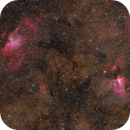M16 & M17,Eagle And Swan Nebulae In The Border Of The Constellations Sagittarius And Serpens!,                                Mohammad Nouroozi