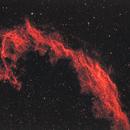 Veil Nebula in Ha with desaturated stars,                                meteoritehunterjim