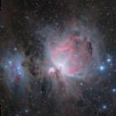 "M42 The Great Orion Nebula  ""The Third Rail of Astrophotography""  Ha(Lum) + OSC,                                Brandon Tackett"