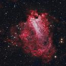 M17 Omega Nebula 20200404 8400s LRGB 01.5.3,                                Allan Alaoui