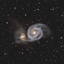M51, Galaxia Remolino (Whirlpool Galaxy),                                Aniceto Porcel