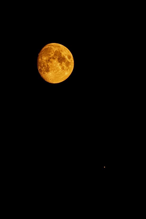 Conjunction of Luna and Jupiter,                                Roy Hagen