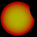 sun eclipse Rhodes island 21-5-2020 initial stage,                                Ηρακλής Πιπινος