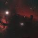 Flame and Horsehead nebulas,                                rkayakr