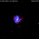 m61 galassia nella vergine        con supernova                                              distanza 60 milioni A.L.,                                Carlo Colombo