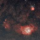 Lagoon and Trifid Nebula,                                MirachsGhost