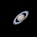 Saturn and three moons,                                MAILLARD