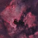 Mosaic • NGC 7000 • North America nebula • IC 5067 • Pelican nebula • HOO,                                Mikael De Ketelaere