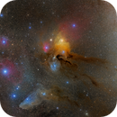 Part Of Scorpio and Ophiuchus Mosaic: Rho Ophiuchi And Blue Horse Head,                                johnnywang