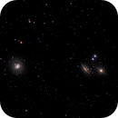 M77 (NGC 1068) barred spiral galaxy and NGC 1055 edge-on spiral galaxy,                                Roger Menard