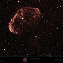 "NGC 6888 - Crescent Nebula in ""RGB"" from Hα,                                Uwe Deutermann"