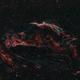 "Western Veil nebula -  My first attempt of processing ""Rgb Ha OIII"",                                Giambattista Rizzo"