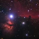 Horsehead Nebula (Barnard 33) in IC 434, Flame Nebula (NGC 2024) and NGC 2023,                                Simon Schweizer
