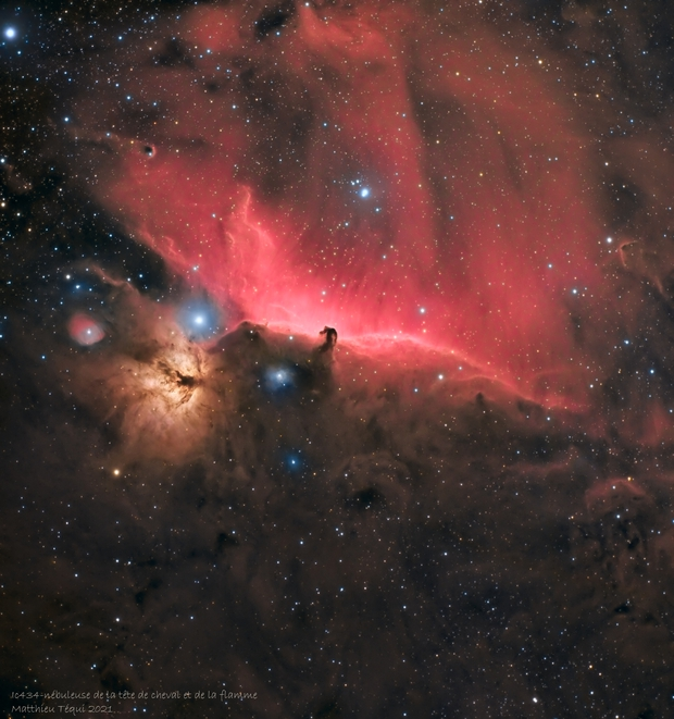 Ic434-la nébuleuse du cheval et de la flamme,                                astromat89