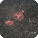 Soul and Heart Nebuale with Double Cluster: DSLR + H-a Narrowband,                                Michele Vonci