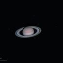 Saturn and Five of its Moons,                                Ayman Naguib