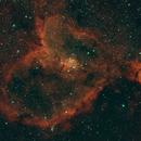 IC1805 - Heart Nebula in OSC/HA,                                Rick Daniell