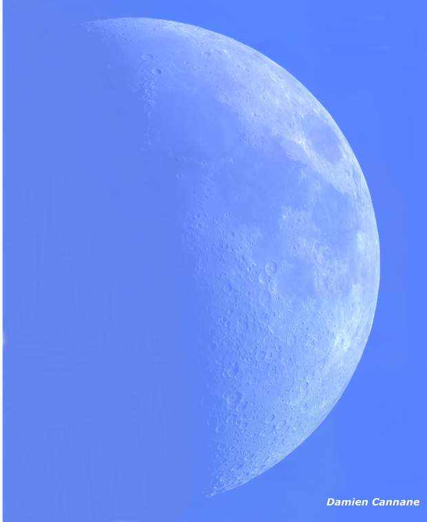 The Moon in Daylight - 11/6/16 (Hi-Res Mosaic),                                Damien Cannane