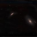 First light on M81-M82,                                Tromat