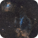Sh2-157 Lobster Claw Nebula with NGC 7635 Bubble Nebula,                                Benny Colyn