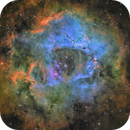 Rosette Nebula - SHO-LRBG,                                equinoxx
