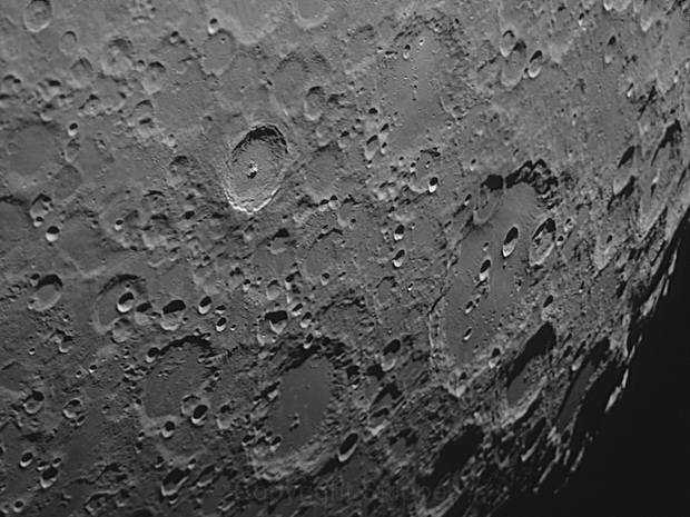 Moon craters - Tycho and Clavius,                                David N Kidd