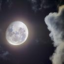 Moon Between The Clouds,                                HaydenAstro(NZ)