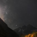 Maroon Bells and Milky Way,                                Thomas