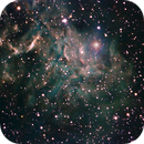 Flaming star nebula in SHO,                                Elliott Melan