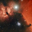 The Flame and Horsehead Nebula,                                Jeff Dorman