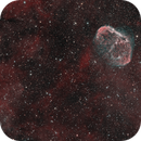 Soap Bubble nebula (PN G75.5+1.7) and the Crescent Nebula (NGC 6888),                                Benny Colyn