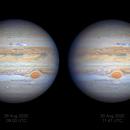 Evolution of Jupiter's NEB Outbreak, 25 Aug - 2 Sep 2020,                                Seb Lukas