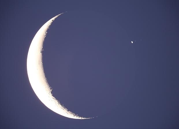Occultation of Jupiter by the Moon 15 July 2012,                                guvenozkan