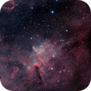 Melotte 15. narrowband with artificial Blue Channel,                                Stephen Jennette