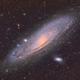 M31 Andromeda Galaxy in HDR HaLRGB,                                Chad Andrist