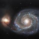 M51, Whirlpool Galaxy,                                Exaxe
