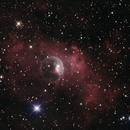 NGC 7635 - The Bubble Nebula HaRGB,                                Peter Lipscomb